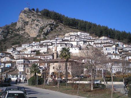 Berat, Albania, Castle, Balkan, Europe, Kala, Mangalem