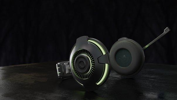 Headphone, Music, Sound, Audio, Headset, Earphones, 3d