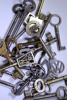 Key, Keys, Golden Key, Keychain, Key Ring, Old Key