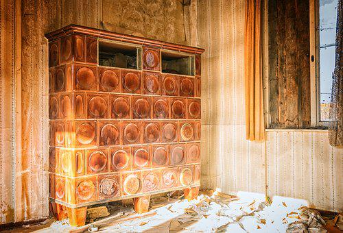 Oven, Heat, Tiled Stove, Old, Nostalgia, Lost Places