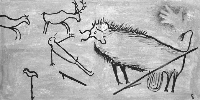 Stone Age, Painting, Mural, Lascaux, Cave Paintings
