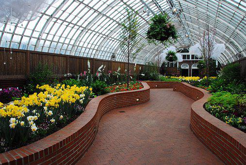 Phillips Conservatory, Pittsburg, Path, Flowers