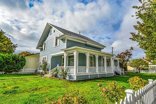 Home, Covered Porch, Picket Fence, Country, Porch