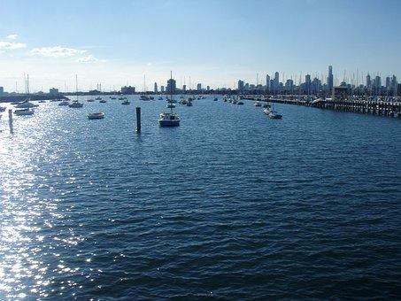 St Kilda, Pier, Jetty, Melbourne, Australia, Water