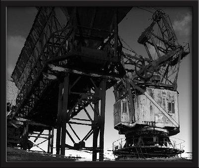 Industry, Coal, Crane, Heritage, Metal, Colors, Port