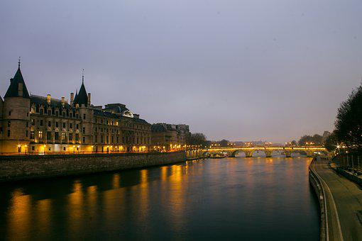 Its, Paris, Bridge, River, Historic Center