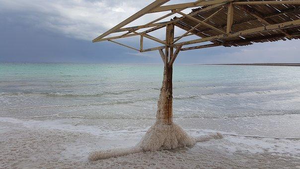 Dead Sea, Vacation, Roof, Log Cabin, Home, Hut, Salt