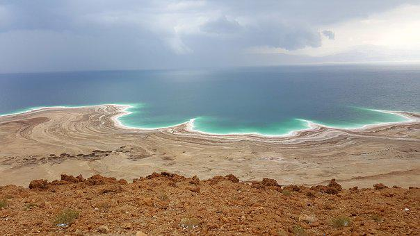 Dead Sea, Salt, White, Salty, Vacations, Middle East