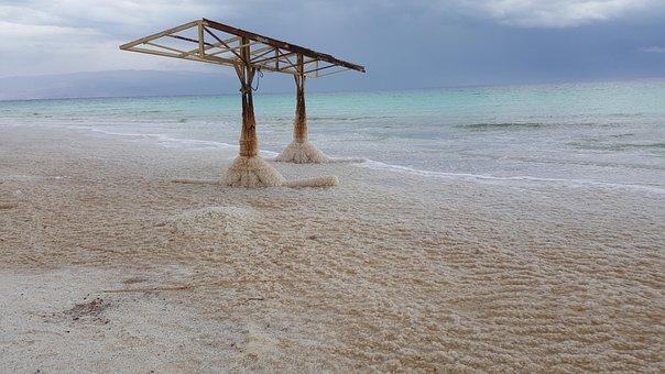 Dead Sea, Salt, Dead, Vacations, Stone, Salt Crust, Sea