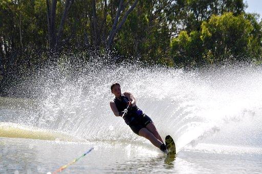 Waterskiing, River, Sport
