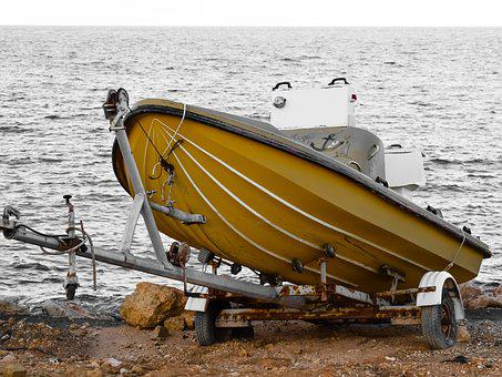 Boat, Grounded, Trailer, Maintenance