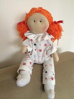 Toy Doll, Natural, Baby, Handmade, Waldorf