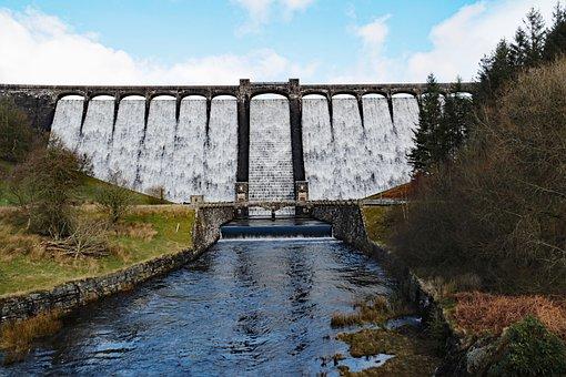 Claerwen, Elan Valley, Dam, Wales, Reservoir, Uk