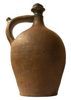 Antique Container, The Old Vessel, White Background
