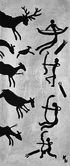 Hunting, Battue, Stone Age, Cave Paintings