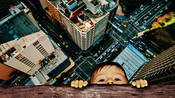 Child, Window Sill, Depend, Dangerous, Houses Gorge