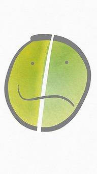 Sad, Depressed, Depression, Bipolar, Abstract, Green