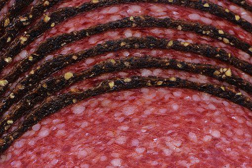 Salami, Sausage, Pepper Rim, Discs, Delicious, Spicy