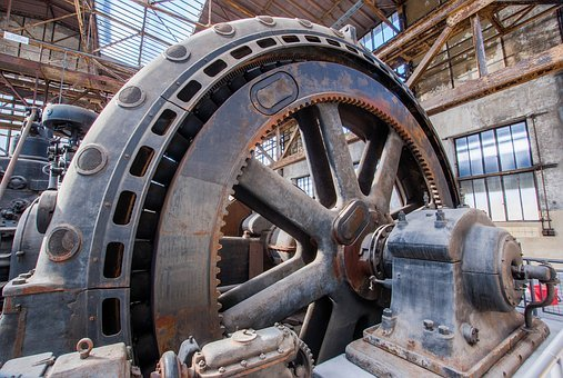Industry, Machines, Factory, Operation, Energy, Gears