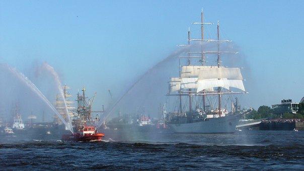 Hamburg, Port Birthday 2011, Spout Parade