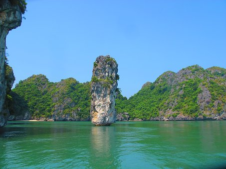 Limestone, Karst, Sedimentary, Rock, Ha Long Bay