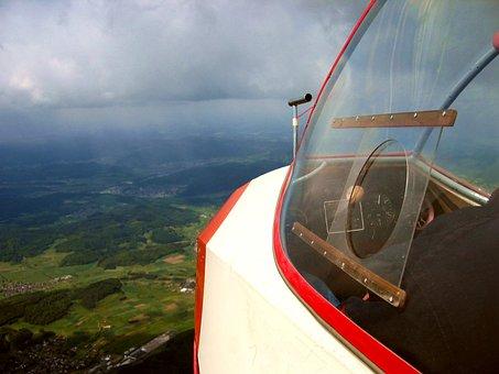 Glider Pilot, Cockpit, Landscape, Gliding, Glider, Lark