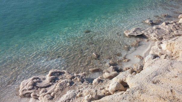 Dead Sea, Israel, Salt, Water, Nature, Mineral
