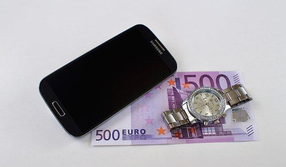 Wrist Watch, Mobile Phone, Professional, Money, Wealth