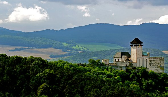 Castle, Priroda, Nature, Slovakia, The Sky, History