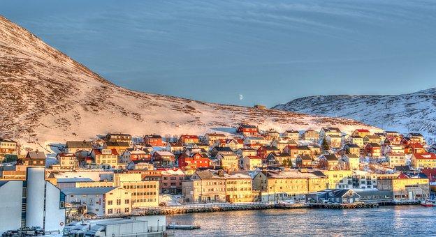 Norway, Honningsvag Coast, Sea, Norwegian, Scandinavia