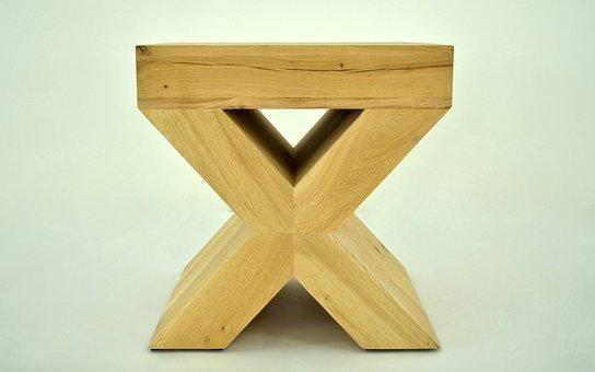 X-ray, Oak Stool, Oak Fiber, Oak Furniture