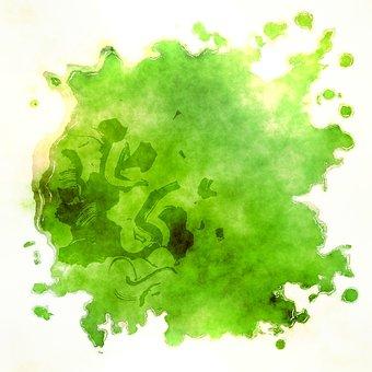 Paint, Watercolour, Watercolor, Ink, Stain, Blot