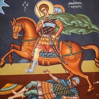 Saint Demetrius, Ayios Dimitrios, Iconography, Painting