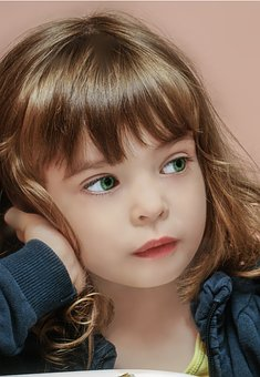 Portrait, The Little Girl, Child, Face