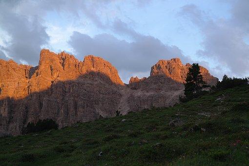 Lynx Heads, Mountains, Alpenglühen, Rock, Rock Wall