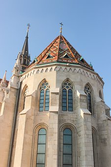 Cathedral, Church, Budapest, Window, Roof, Cross
