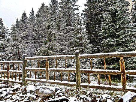 Fence, Post And Rail, Wooden, Rustic, Boundary