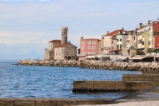 Piran, Slovenia, Adriatic, Sea, Old, Architecture