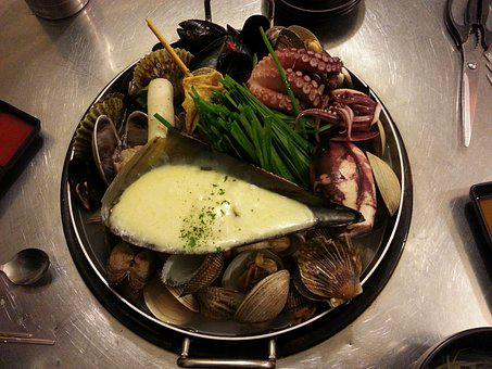 Steamed Clams, Seafood, Cheese