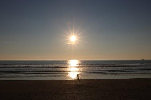 Saint-gilles-cross-of-life, Vendée, Surf, Sunset, Beach