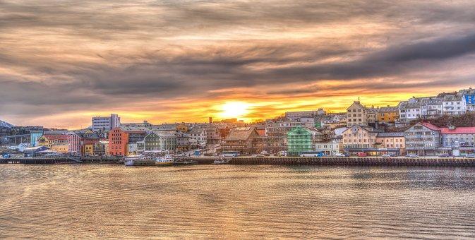 Norway, Coast, Sunset, Kristiansund, Scandinavia, Sea