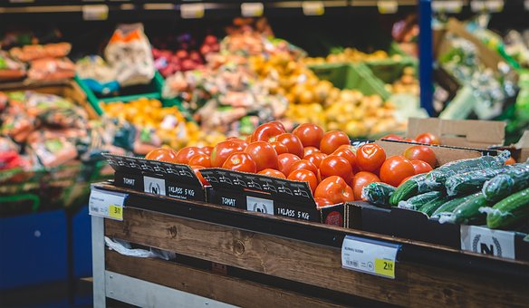 Grocery Store, Supermarket, Vegetable, Shop, Tomato