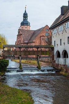 Ettlingen, Alb, St Martin, Bridge, Swim