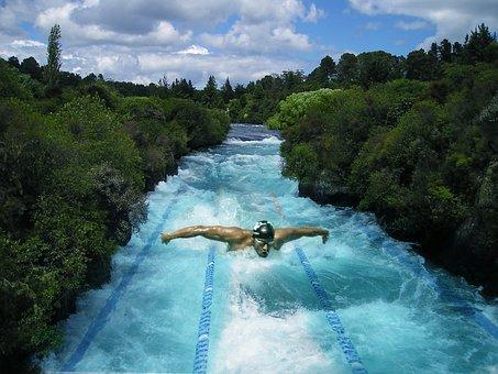 Swimming, Swim, Swimming Pool, Summer, Watersport, Blue