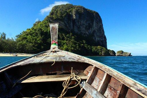 Longtail Boat, Thailand, Poda Island