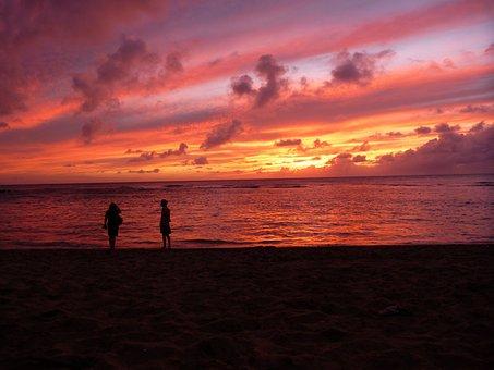 Hawaii, Sunset, Tropical, Evening