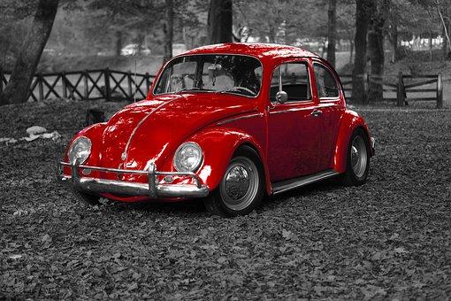 Car, Old, Vintage, Vw, Beetle, Bug, Vehicle, Retro