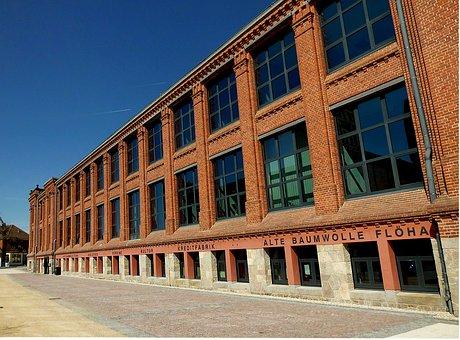 Flöha, Bank Building, Architecture, Industry