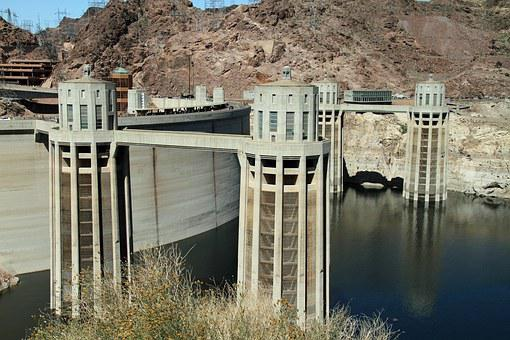 Hoover Dam, Dam, Concrete, Black Canyon, Colorado River