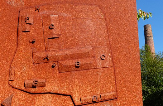Rusty, Iron, Sculpture, Welded, Old Brickyard, Brick